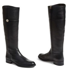 Tory Burch | Jolie Riding Boot Black Leather 5.5